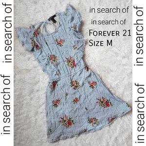 Floral Dress Forever 21- Light Blue